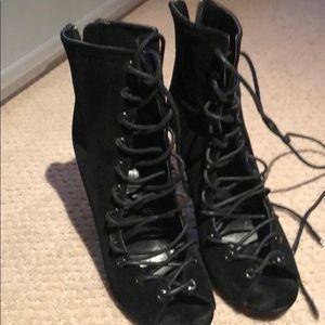 Shoe Republic LA velvet heels